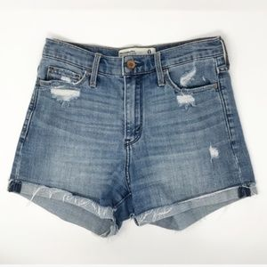 Abercrombie & Fitch High Rise Denim Shorts Size 0